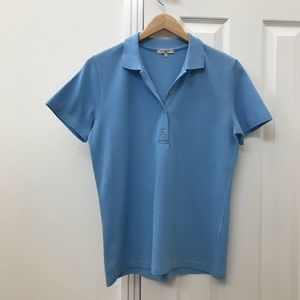 Etro women's sky blue fitted cotton polo shirt